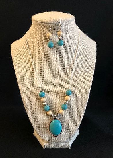 Turquoise & White Droplet Set