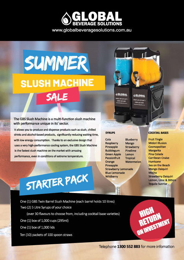slushie machine sale sydney melbourne wo