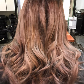 Dusty Pink ombre colouring