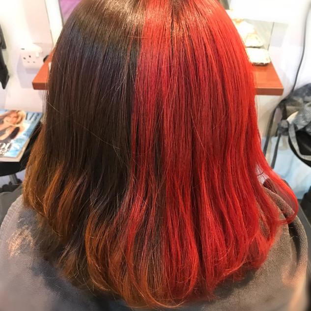 Bright Red Hair Colour