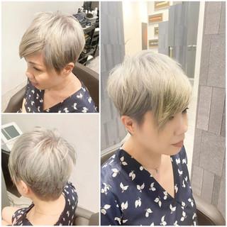 Silver short hair