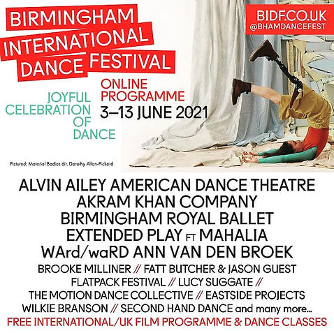 The MDC produce 8 new Commissions with DanceXchange and BIDF!!