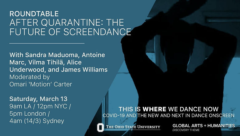 #WhereWeDanceNow - International Journal of Screendance Symposium Roundtable