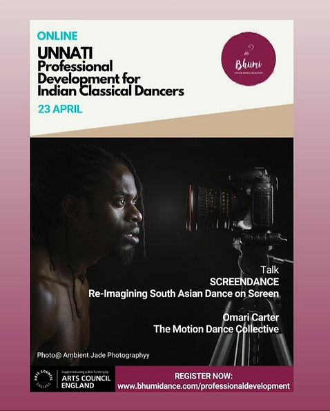 UNNATI - Professional Development for Indian Classical Dancers with Omari 'Motion' Carter