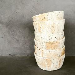 Small speckled ceramic bowls...jpg