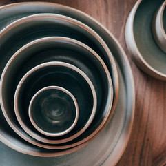 Bowls in different sizes__#ceramics #ker
