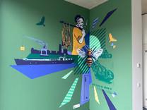 Groenhuis Havenkwartier Mural