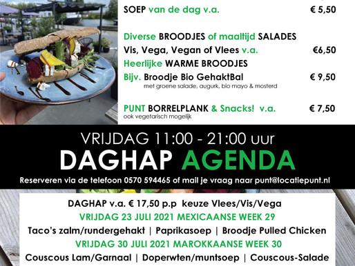 Daghap Agenda Zomer 2021