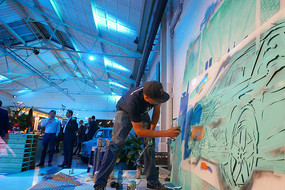 Seat live painting