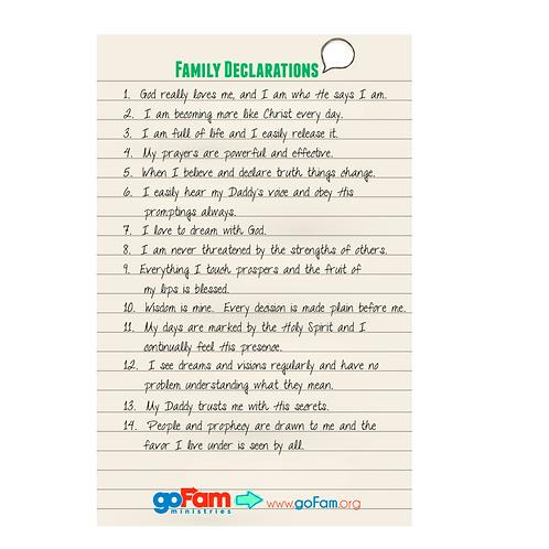 Family Declarations