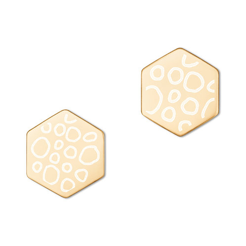 Subtly Wild | Sterling Silver Hexagon Stud Earrings