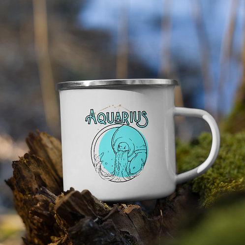 Aquarius Zodiac | Enamel Mug