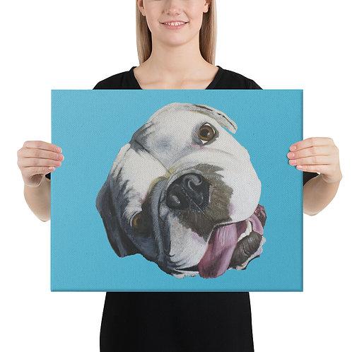Bulldog on Canvas