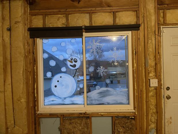 Residential   SnowMan Dodging Snowballs From Baby Yoda
