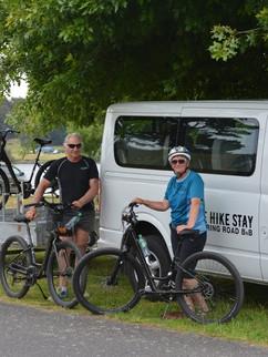 Bike Hike Stay's van