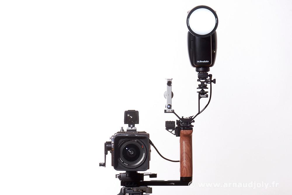 Hasselblad SWC DCC (Digital-Concept-Custom) appareillé du flash profoto A1