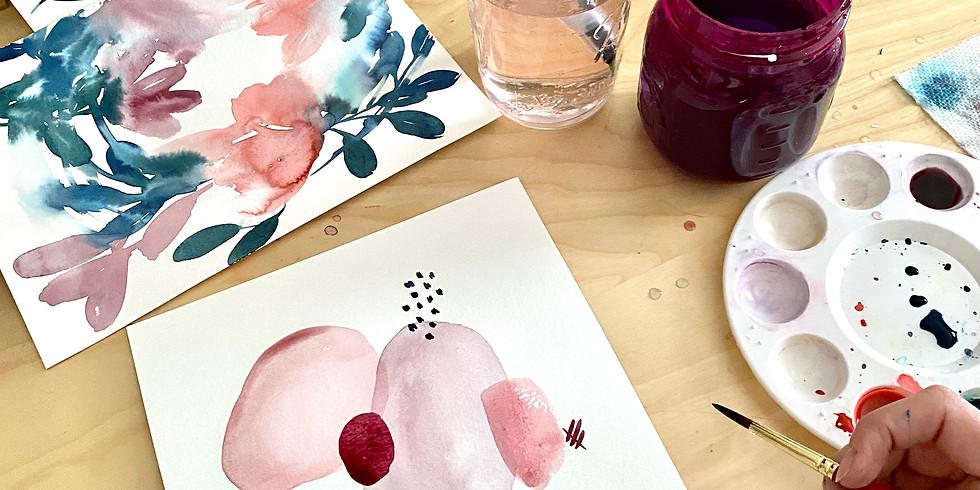 Watercolor Art Party