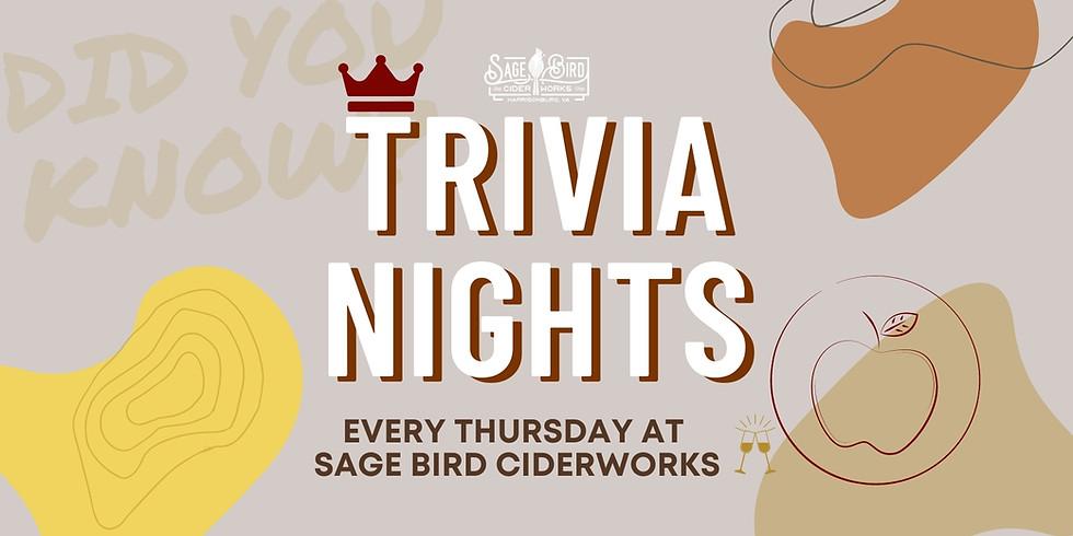 Trivia at Sage Bird Ciderworks
