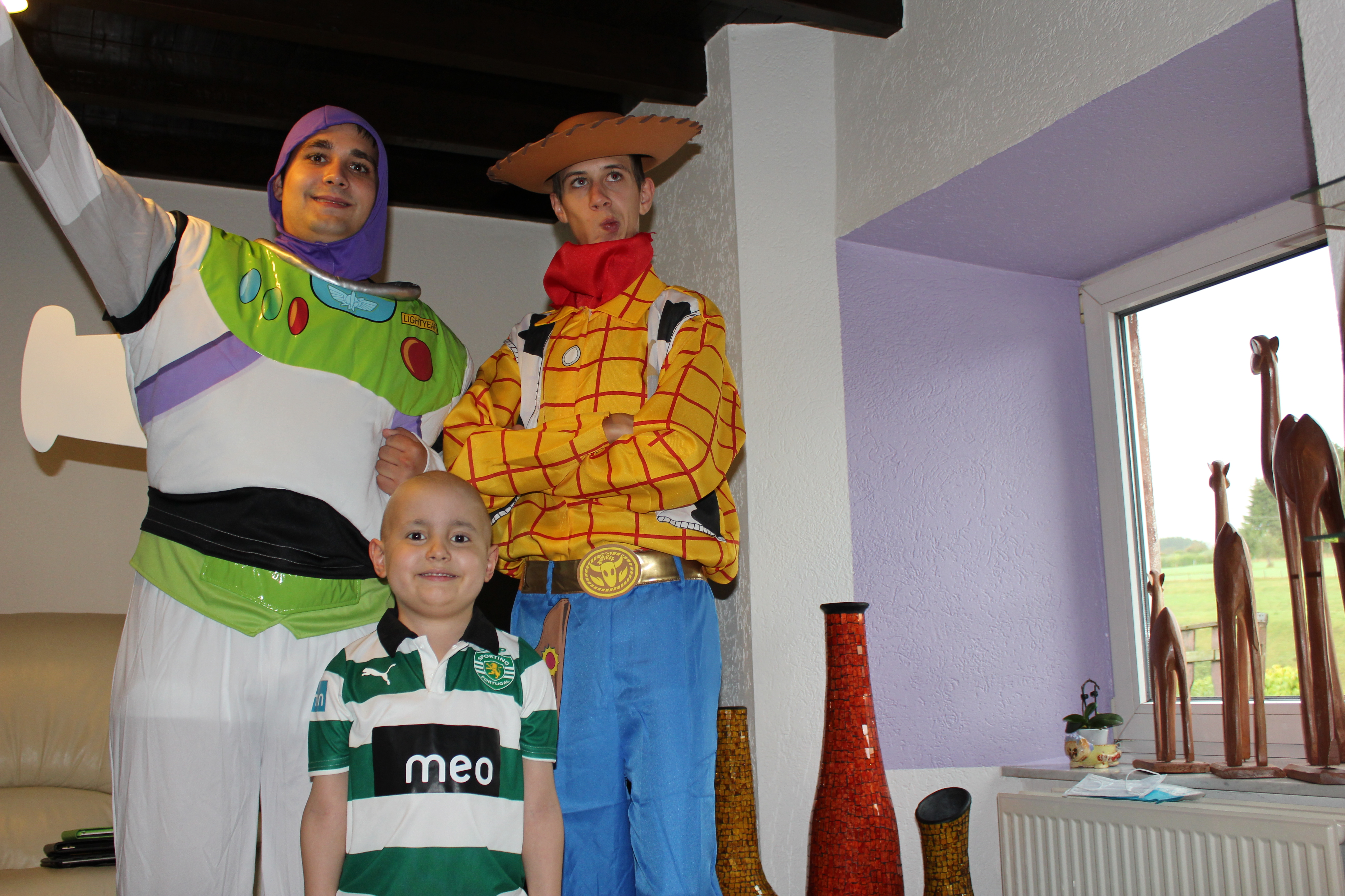 Ces héros, Buzz et Andy de Toy Story