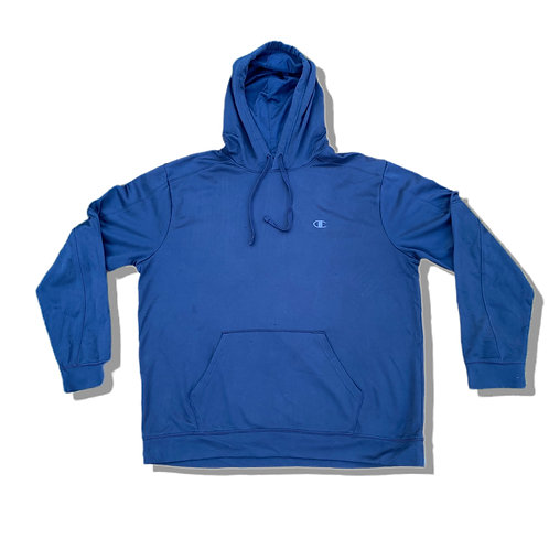 CHAMPION Dark Blue Small Logo Hoodie (S)