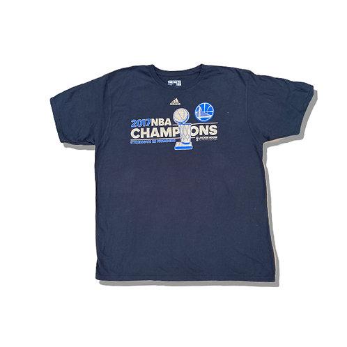 ADIDAS Black 2017 NBA Champions Logo T-Shirt (L/XL)
