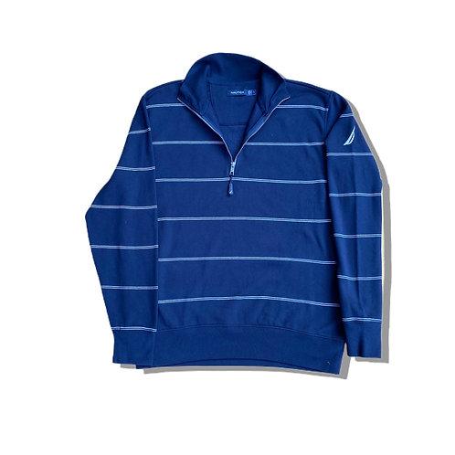 Nautica ¼ Zip Fleece Sweatshirt Tartan (L)