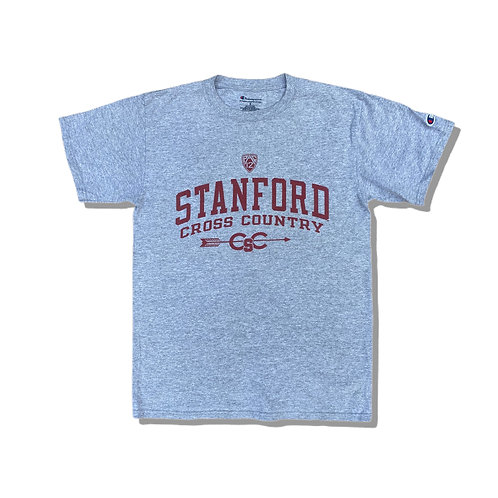 CHAMPION Grey Stanford Cross Country T-Shirt (S)