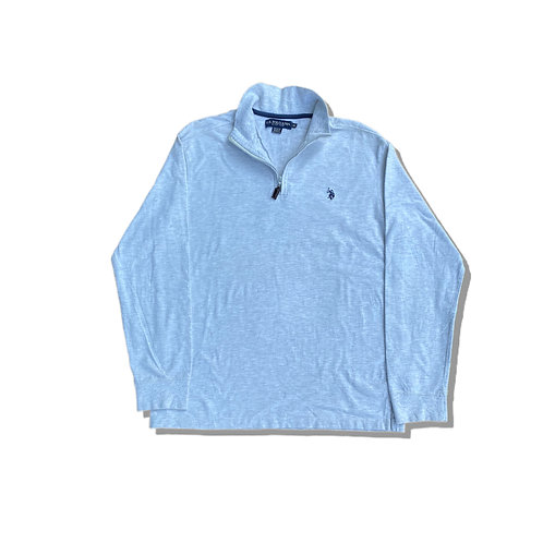 RALPH LAUREN POLO ¼ Zip Fleece Sweatshirt (L/XL)
