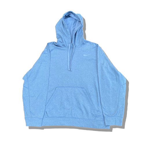 NIKE Grey Small Tick Logo Therma Fit Hoodie(S)