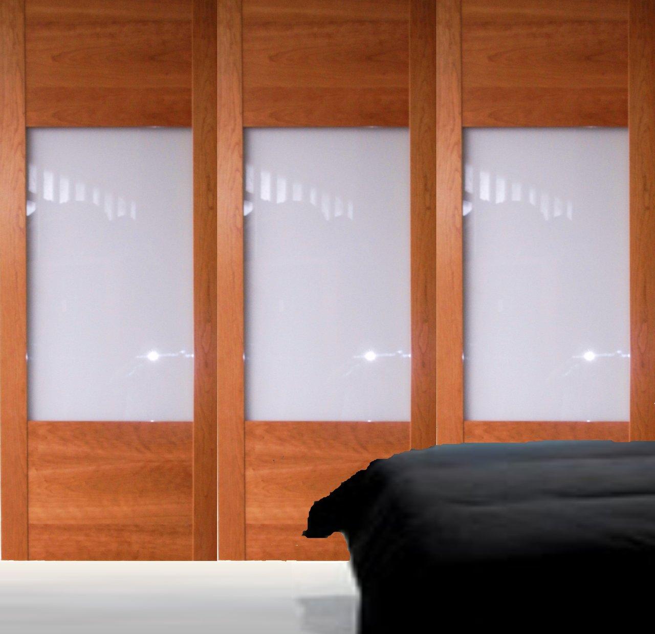 Armario madera y vidrio