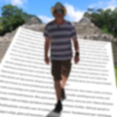 författaren Peter Erik Du Rietz besöker Caracol Belize