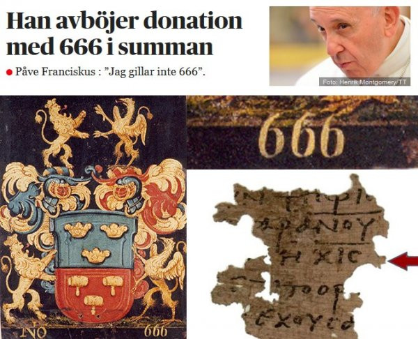Påven gillar inte 666
