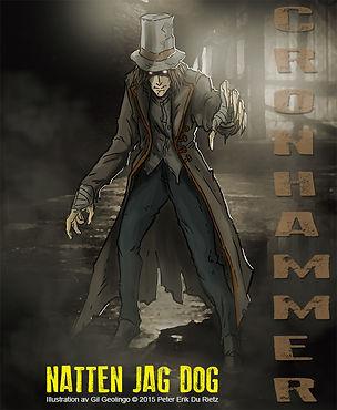 Carl Cronhammer, huvudpersonen i skräckromanen Natten jag dog, av författaren Peter Erik Du Rietz