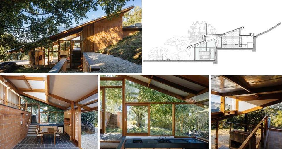 Exemplo: Projeto de uma casa aproveitando a declividade do terreno