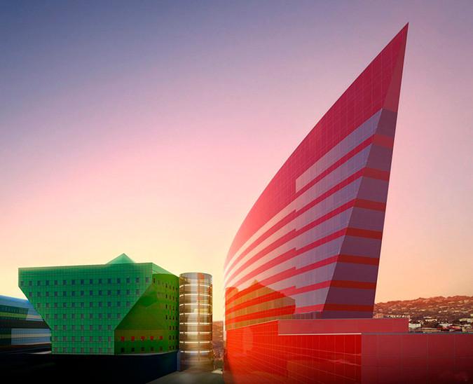Exemplo de fachada utilizando as cores.