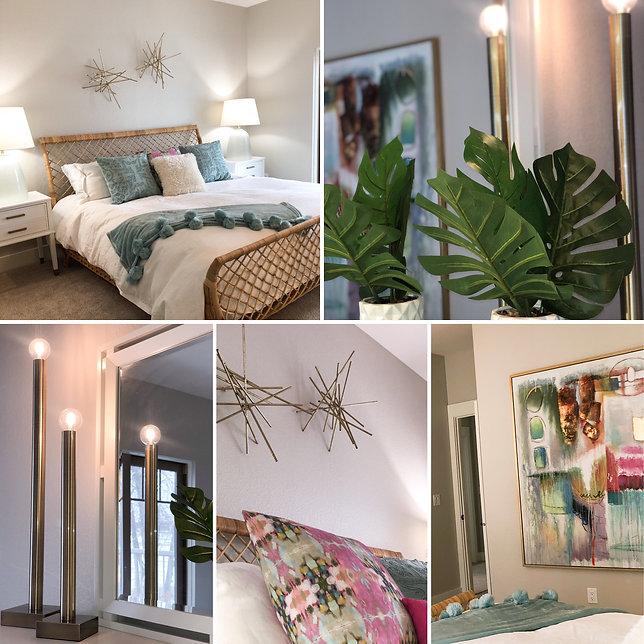 Bedroom design, furniture and lighting
