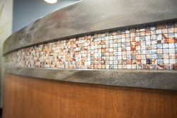 decorative tile and countertop