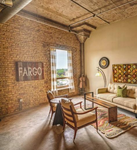 small scaled davenport for loft or condo living