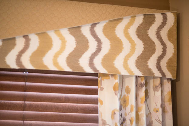 custom fabric window treatment