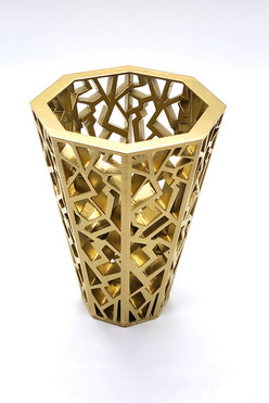 Golden Shattered Pen Holder