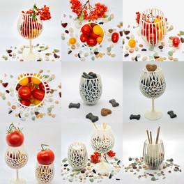 Decorative Wine Glass Collage