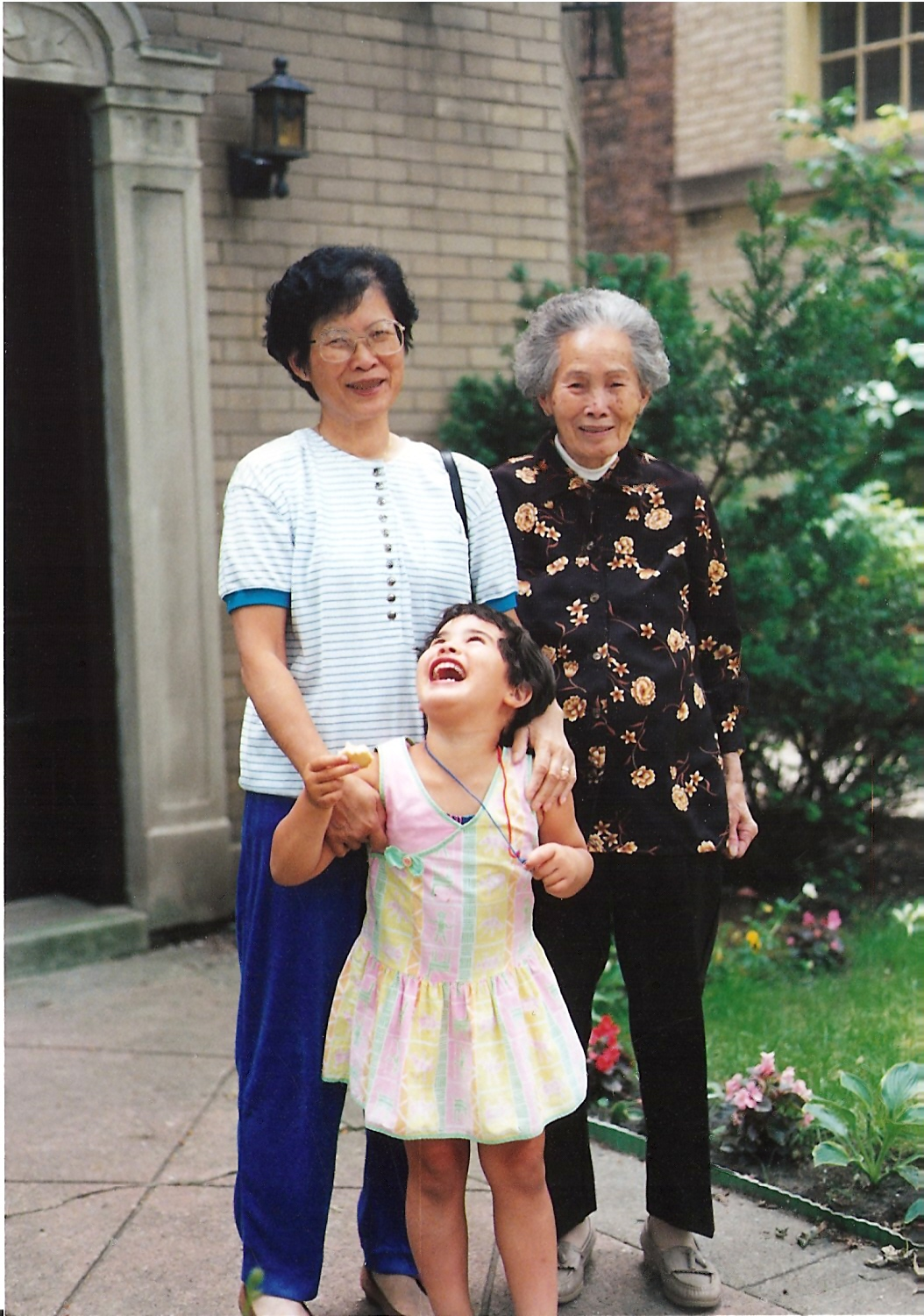 Generations Regan with grandma and greatgrandma around 1991