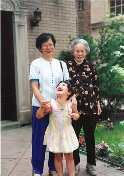 Generations Regan with grandma and greatgrandma around 1991
