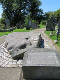 Down Cathedral St. Patrick marker as actual burial likely under church best best 2017-07-17 082