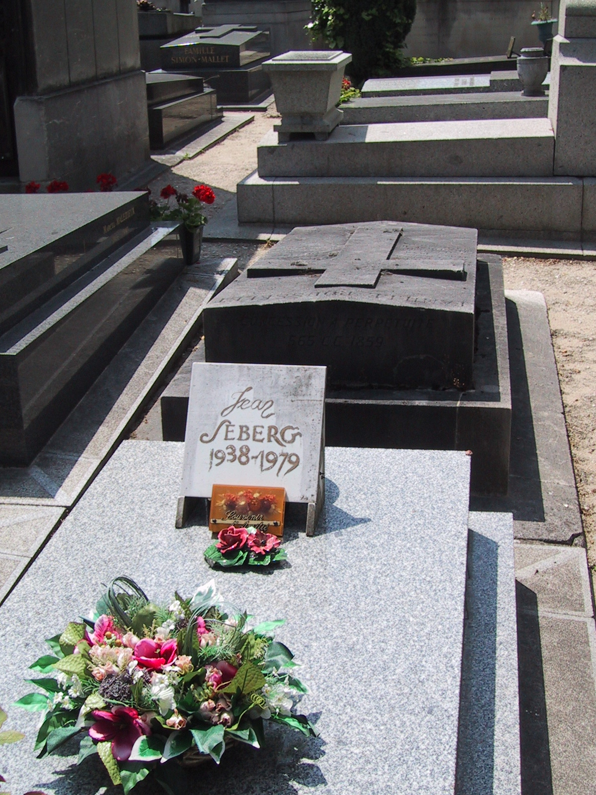 Jean Seberg grave Paris Montparnasse