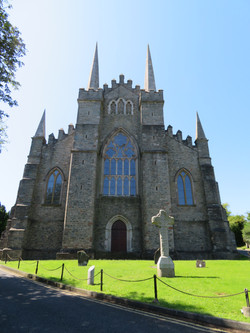 Down Cathedral  with high cross St Patrick likely burial spot under church best best 2017-07-17 076