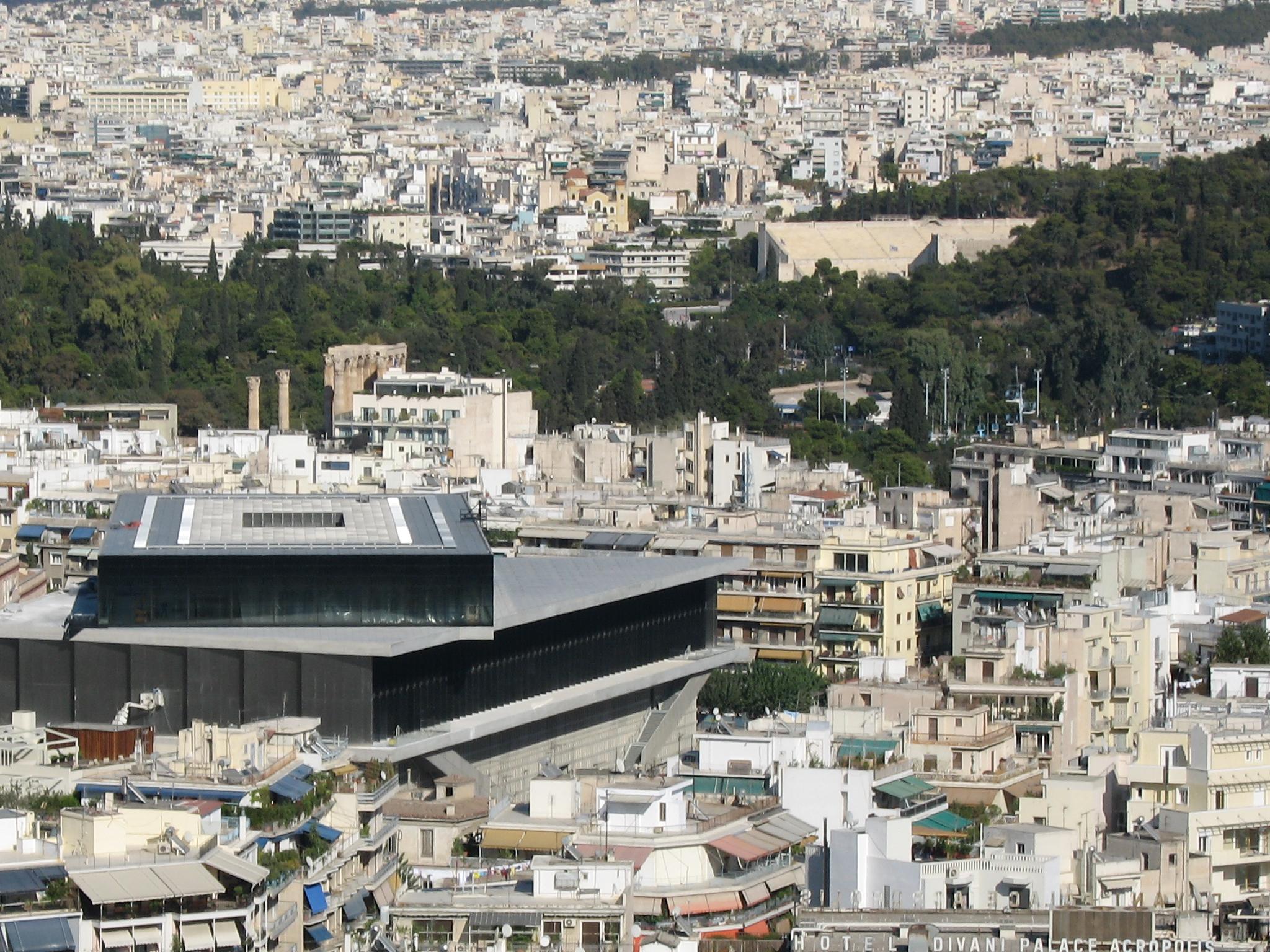 2007 Athens; new acropolis museum