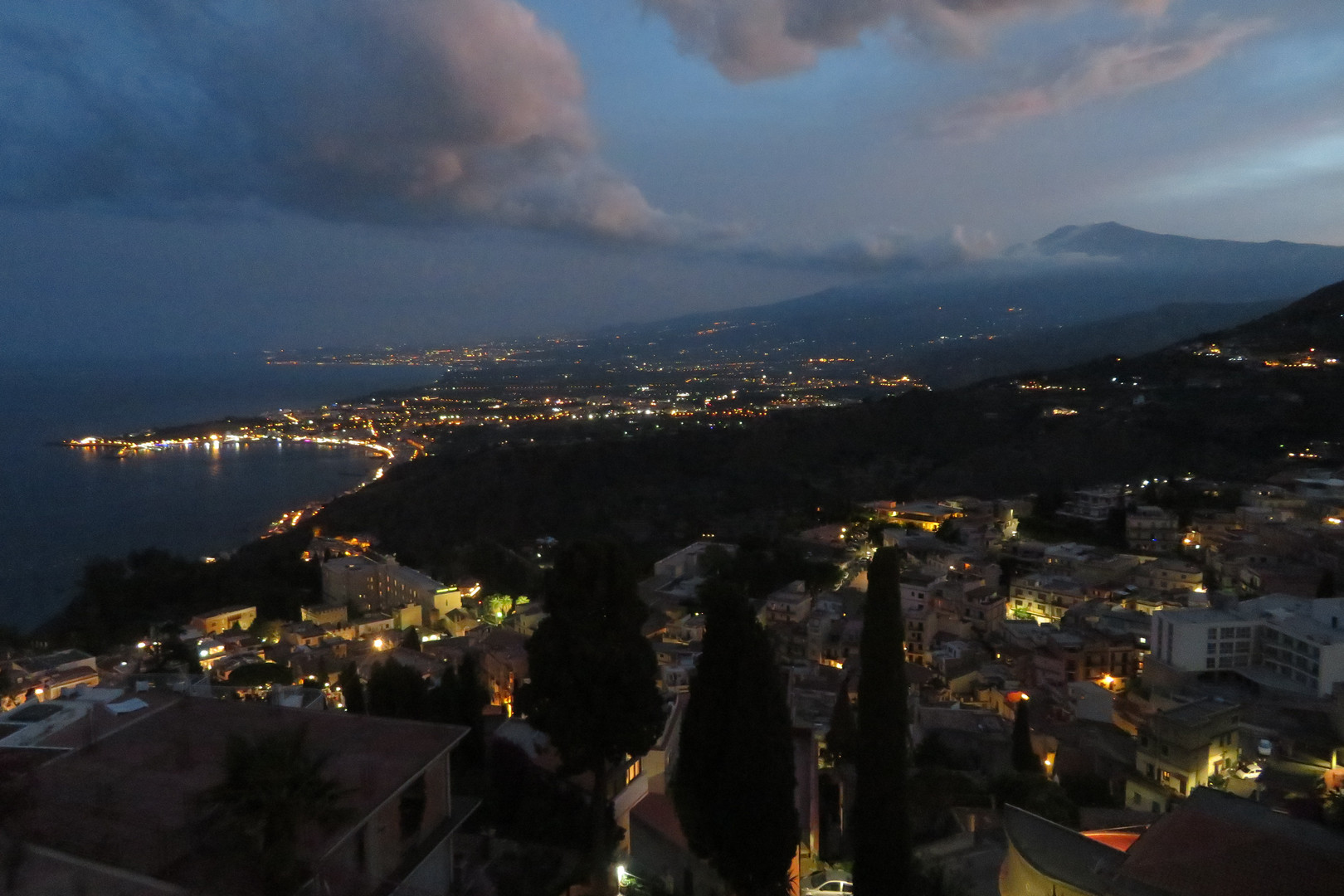 Taormina Villa Angela best night view Italy 2018 IMG_5336.JPG