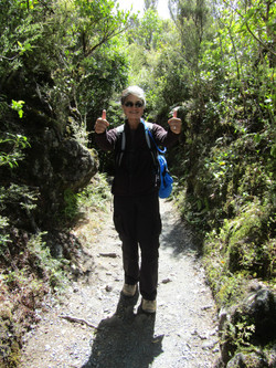 Tongariro hike victory half km from end 8 hours total with long break at emerald lakes 2017-01-07
