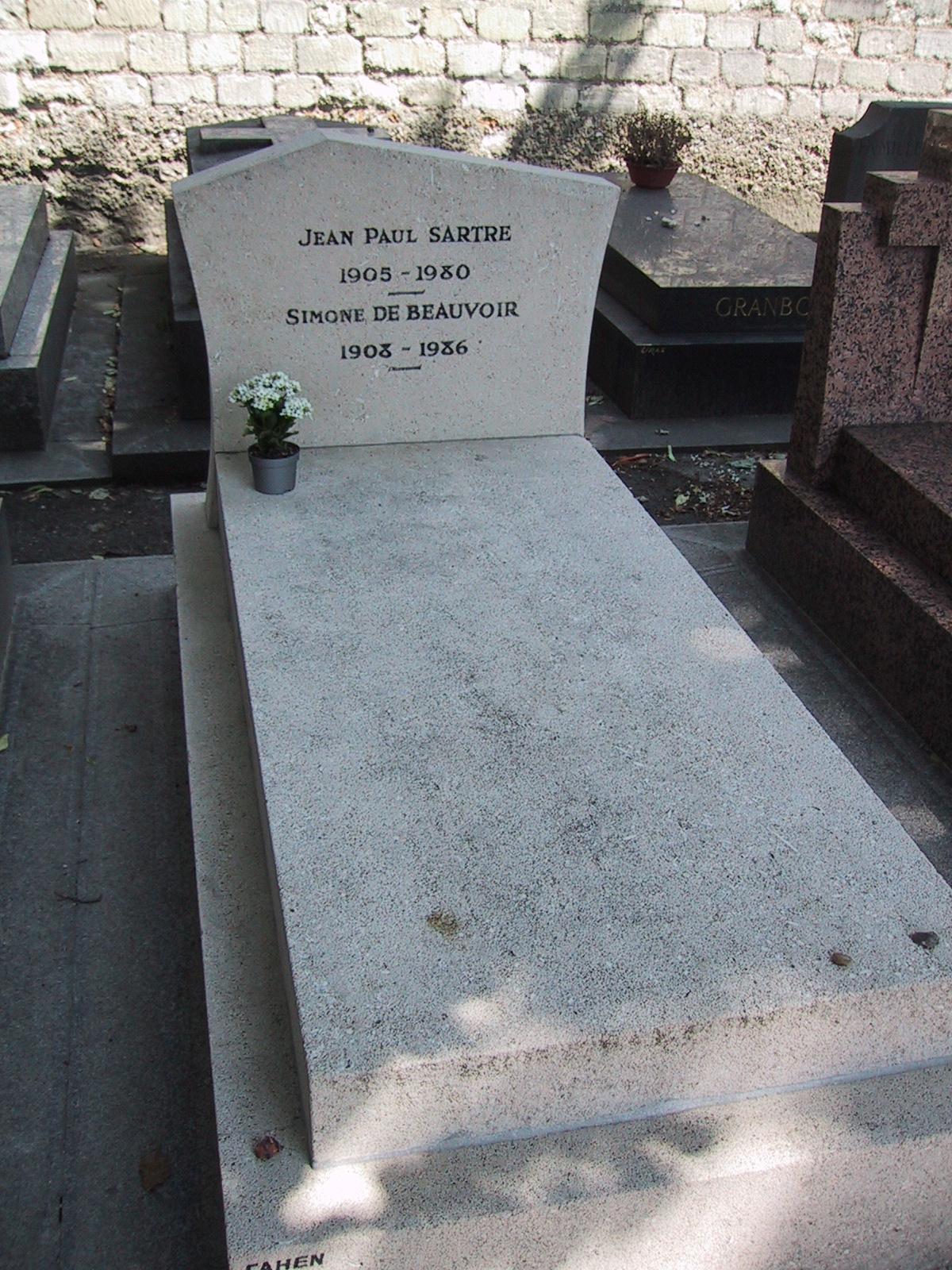 Jean-Paul Sartre grave Montparnasse
